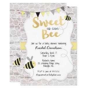 Bee Invitations Zazzle
