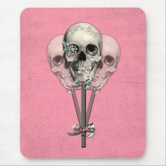 Sweet as Candy Lollipop skulls in pink. Mouse Pad