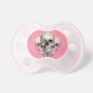 Sweet as Candy Lollipop skulls in pink. Pacifier