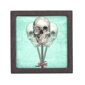 Sweet as Candy Lollipop skulls. Keepsake Box
