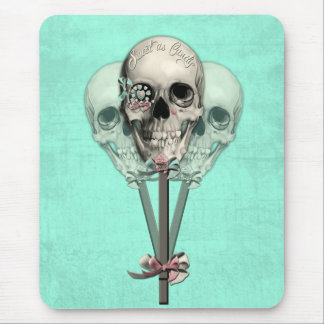 Sweet as Candy Lollipop skulls. Mouse Pad