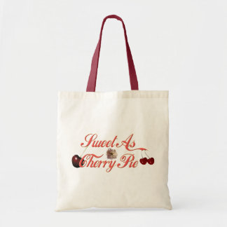 Sweet as Cherry Pie Canvas Bags