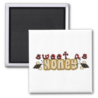 sweet as honey 2 inch square magnet