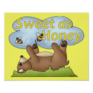 Sweet as Honey Bear Poster