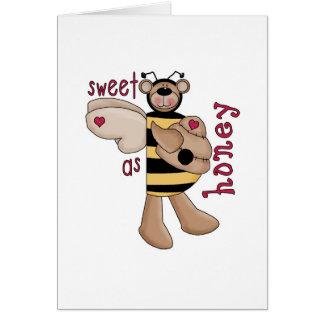 Sweet As Honey Bumble Bee Bear Card