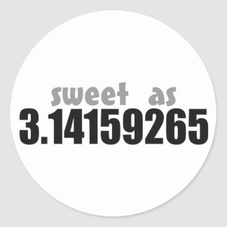 Sweet as Pi Classic Round Sticker