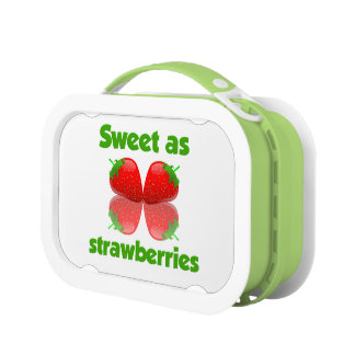 Sweet as Strawberries lunch boxes