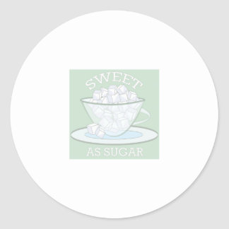 Sweet As Sugar Classic Round Sticker