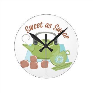 Sweet As Sugar Round Clock