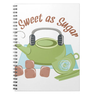 Sweet As Sugar Spiral Notebook