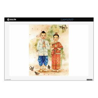 "Sweet Asian Couple 17"" Laptop Decals"