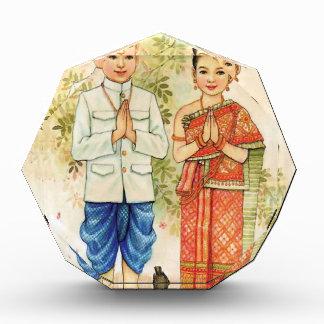 Sweet Asian Couple Acrylic Award