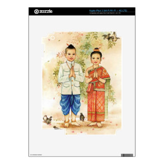 Sweet Asian Couple Decal For iPad 3