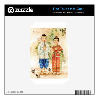 Sweet Asian Couple Decal For iPod Touch 4G