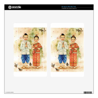 Sweet Asian Couple Decal For Kindle Fire