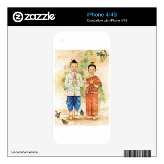 Sweet Asian Couple Decal For The iPhone 4