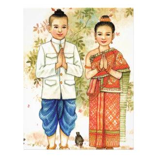 Sweet Asian Couple Letterhead