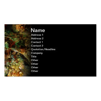 Sweet Autumn Abstract Fractal Art Double-Sided Standard Business Cards (Pack Of 100)