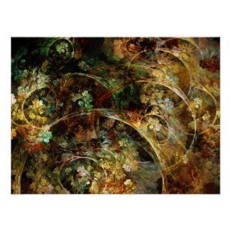 Sweet Autumn Abstract Fractal Art Poster