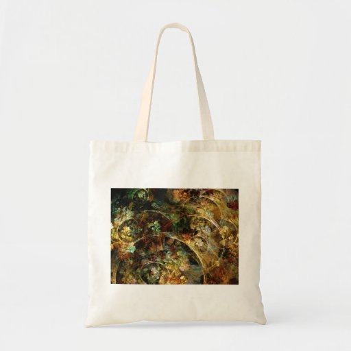 Sweet Autumn Abstract Fractal Art Tote Bag