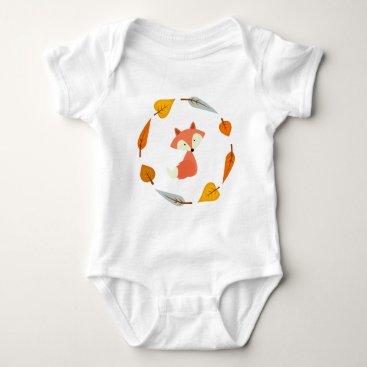 heartlocked Sweet Autumn Leaves Fox Baby Bodysuit