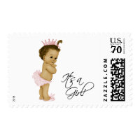 Sweet Baby African American Baby Shower Postage Stamp