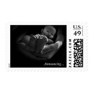 Sweet Baby Announcement Postage Stamps