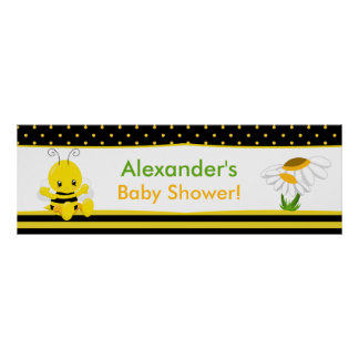 Sweet Baby Bee Baby Shower Banner Poster
