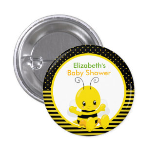Sweet Baby Bee Baby Shower Button