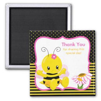 Sweet Baby Bee Girl Thank You Magnet