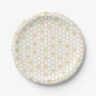 Sweet Baby Bee Honeycomb Paper Plates