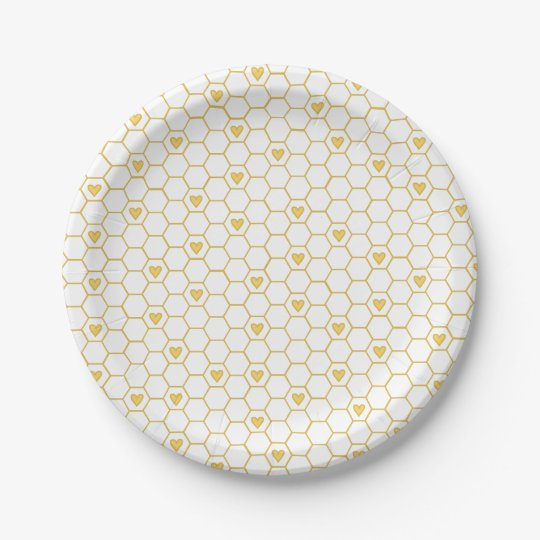 Sweet Baby Bee Honeycomb Paper Plates  sc 1 st  Zazzle & Sweet Baby Bee Honeycomb Paper Plates | Zazzle.com