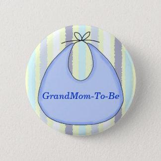 Sweet Baby Bib Shower Grandmother Pin Button