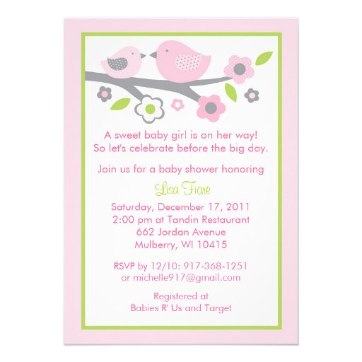 Bird Baby Shower Invitations absolutely amazing ideas for your invitation example