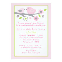 Sweet Baby Bird Baby Shower Invitation