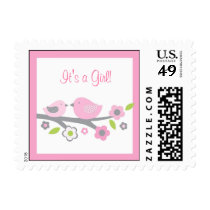 Sweet Baby Bird Baby Shower Postage Stamps