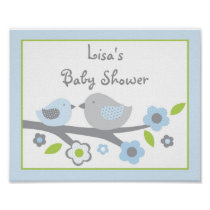 Sweet Baby Bird Baby Shower Sign