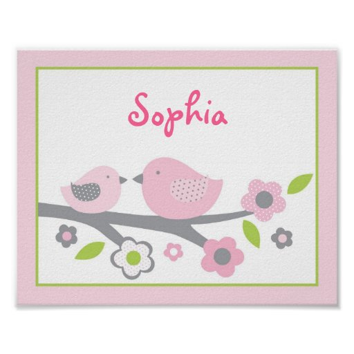 Sweet Baby Bird Nursery Wall Art Print