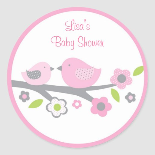 Sweet Baby Bird Stickers Envelope Seals