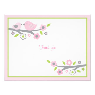 Sweet Baby Bird Thank You Note Cards Invitation