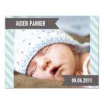 "SWEET BABY   BIRTH ANNOUNCEMENTS 4.25"" X 5.5"" INVITATION CARD"