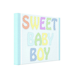 """Sweet Baby Boy""  canvas hang up"