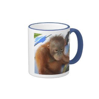 Sweet Baby Boy Orangutan Fundraiser Ringer Coffee Mug