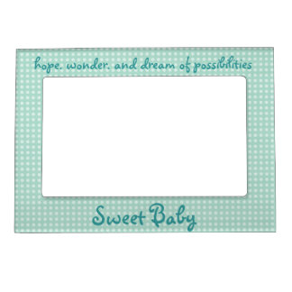 Sweet Baby Boy picture frame magnet