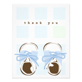 Sweet Baby Boy Saddle Shoe Note Card Personalized Invite