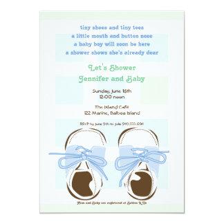 Sweet Baby Boy Saddle Shoe Shower Invitation