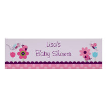 Sweet Baby Bug Baby Shower Banner Sign