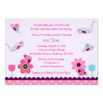 Sweet Baby Bug Baby Shower Invitations