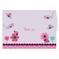 Sweet Baby Bug Thank You Note Cards