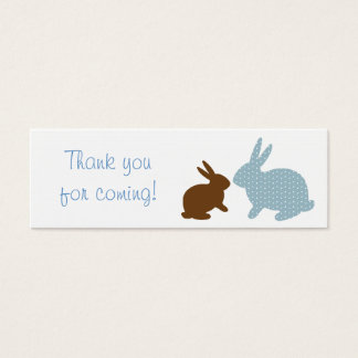 Sweet Baby Bunny Blue Party Favor Gift Tags